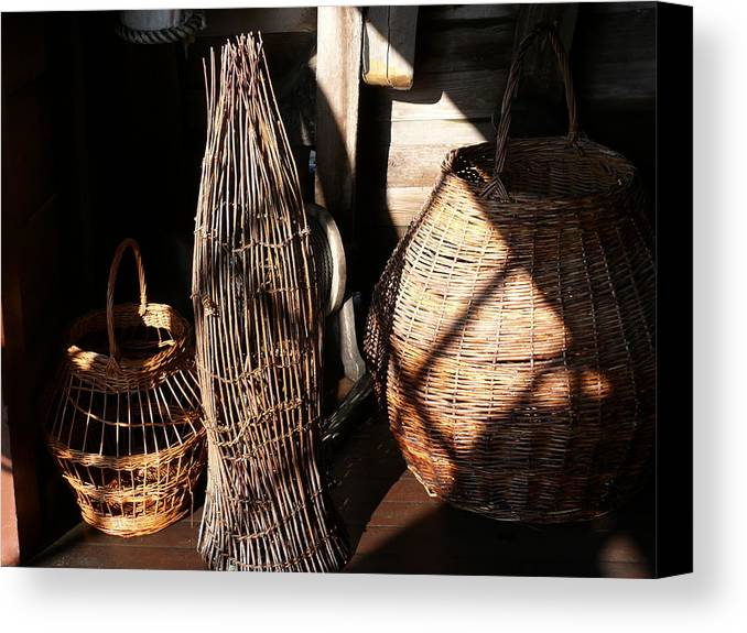 Basket Canvas Print featuring the photograph Baskets by Mark Grayden