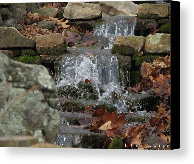 Nature Canvas Print featuring the photograph Be Water by Jonathan Ellis Keys