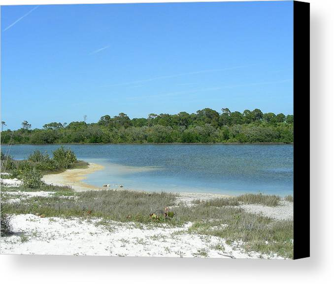 Lake Canvas Print featuring the photograph Beach Inland Lake by Peter McIntosh