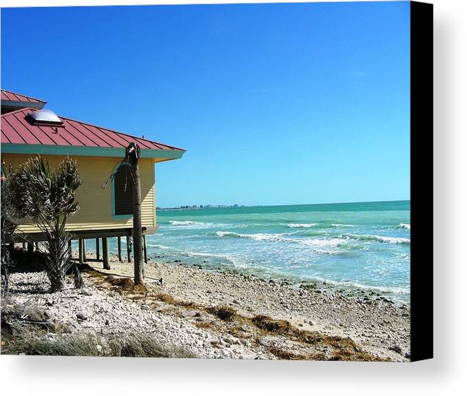 Beach Canvas Print featuring the photograph Beach Shack by Peter McIntosh