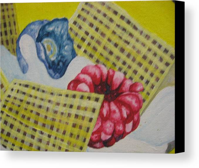 Berries Canvas Print featuring the painting Berry Mix 2 by Theodora Dimitrijevic