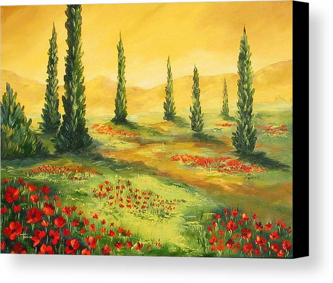 Tuscan Canvas Print featuring the painting Beyond The Tuscan Sun by Torrie Smiley