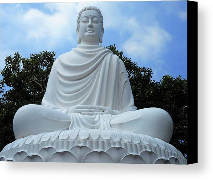 Phu My Canvas Print featuring the photograph Big Buddha 4 by Ron Kandt