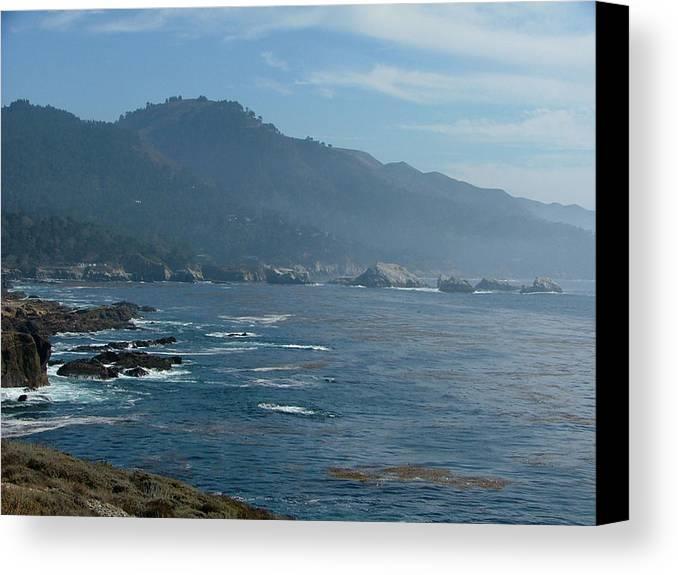 Seascape Canvas Print featuring the photograph Big Sur by Donna Thomas