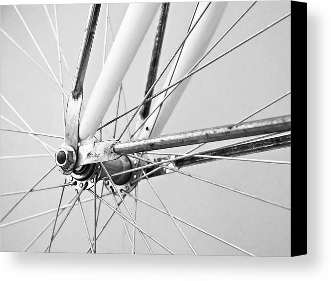Bike Canvas Print featuring the photograph Bike Spokes by Marion McCristall
