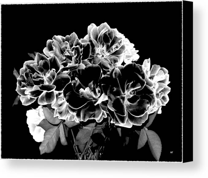 Roses Canvas Print featuring the digital art Black And White Roses by Will Borden