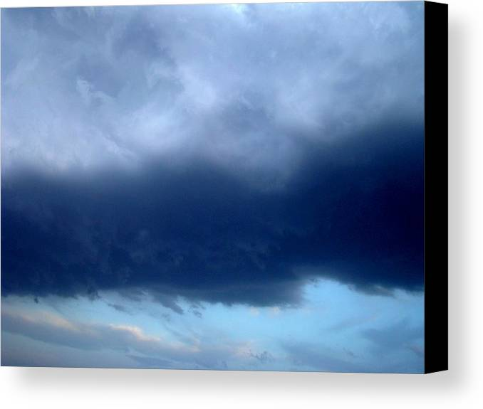 Blue Canvas Print featuring the photograph Blue Clouds One by Ana Villaronga