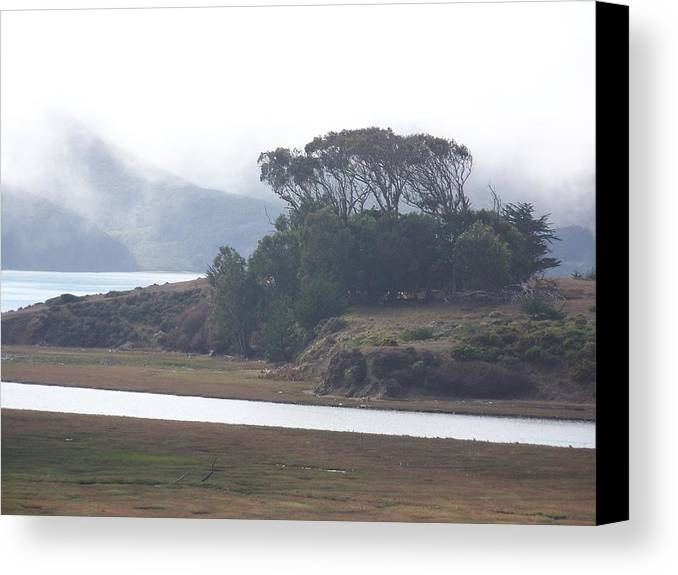 Waterscape Canvas Print featuring the photograph Blue Mist by Maggie Cruser