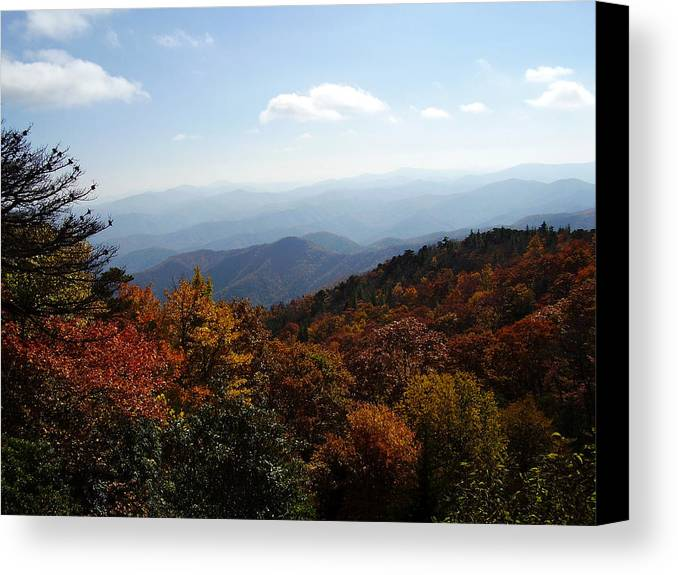 Blue Ridge Mountains Canvas Print featuring the photograph Blue Ridge Mountains by Flavia Westerwelle