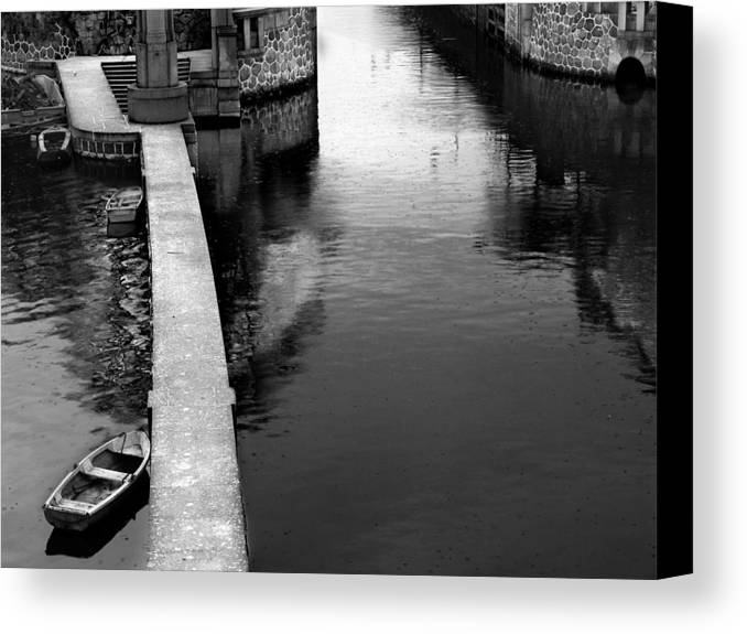 Boat Canvas Print featuring the photograph Boats In The Rain by Todd Fox
