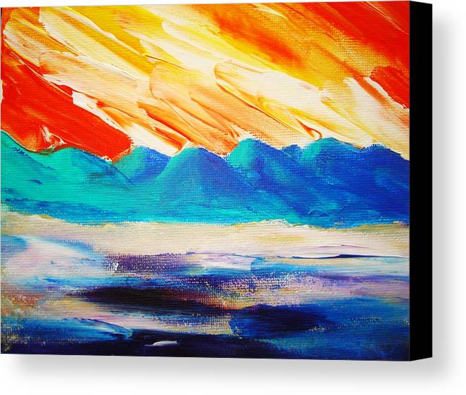 Bright Canvas Print featuring the painting Bold Day by Melinda Etzold