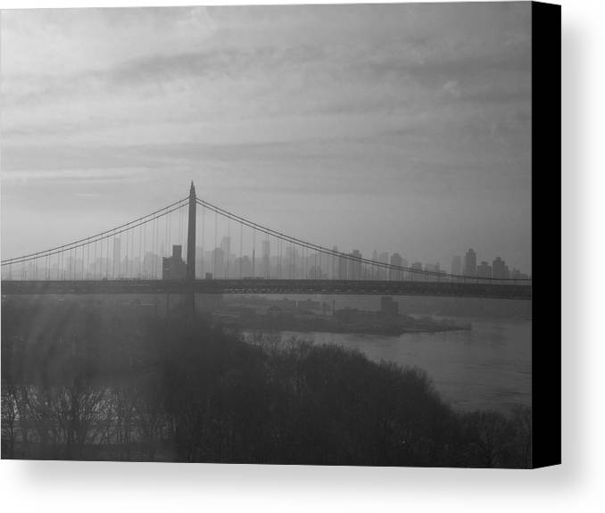 New York City Canvas Print featuring the photograph Bridge View by Paulette B Wright