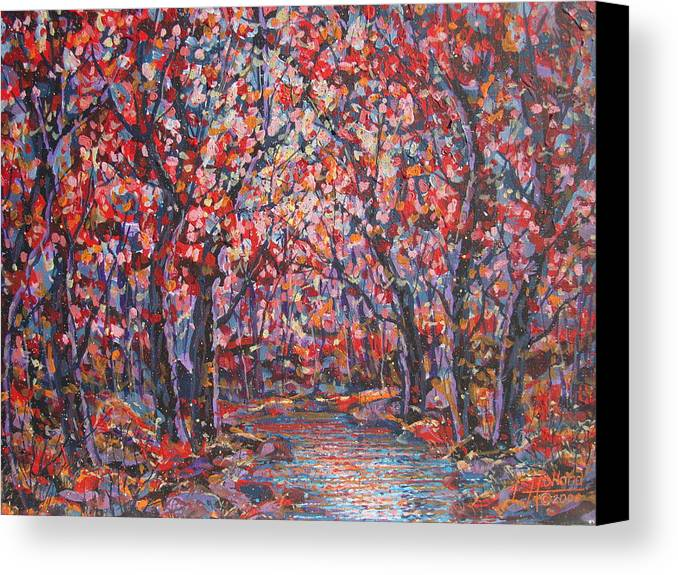 Forest Canvas Print featuring the painting Brilliant Autumn. by Leonard Holland