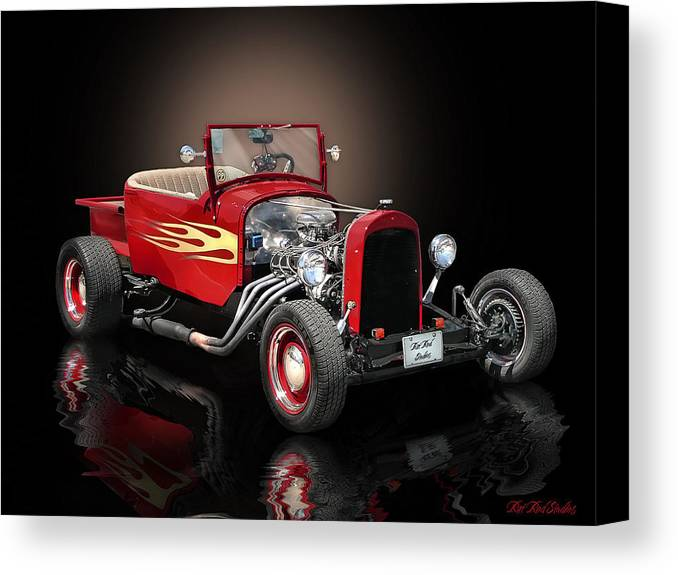 1926 Canvas Print featuring the digital art Burnin' Up The Back Streets Tearin' Up The Town by Rat Rod Studios