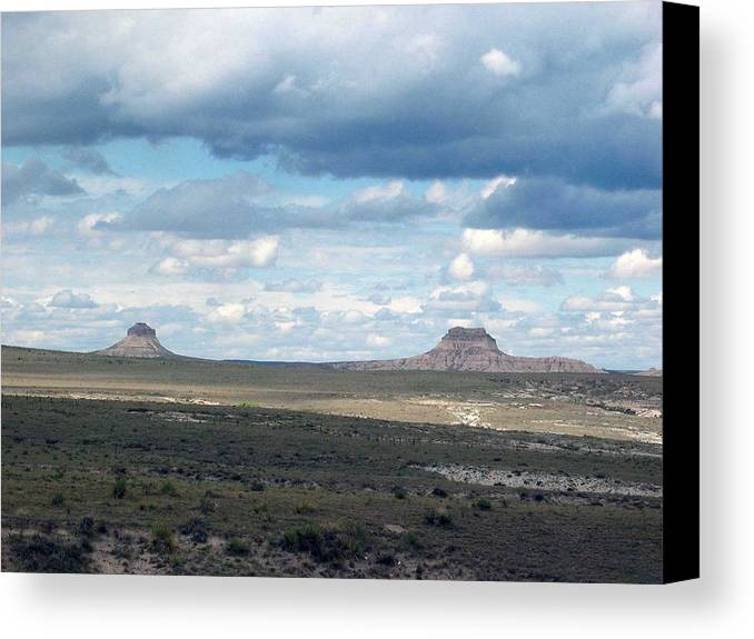 Big Sky Canvas Print featuring the photograph Buttes by Margaret Fortunato