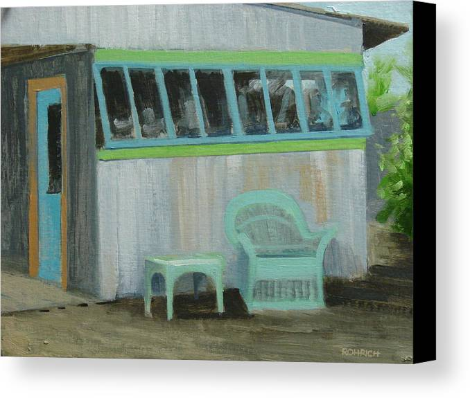 Old Building Canvas Print featuring the painting Bygone Days by Robert Rohrich