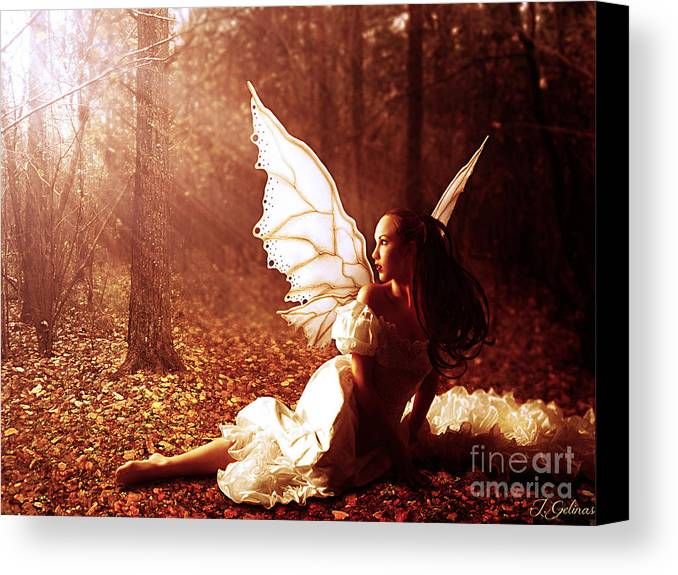 Fairy Canvas Print featuring the digital art Called Home by Jennifer Gelinas