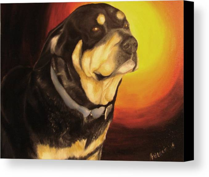 Paintings Canvas Print featuring the painting Canine Vision by Glory Fraulein Wolfe
