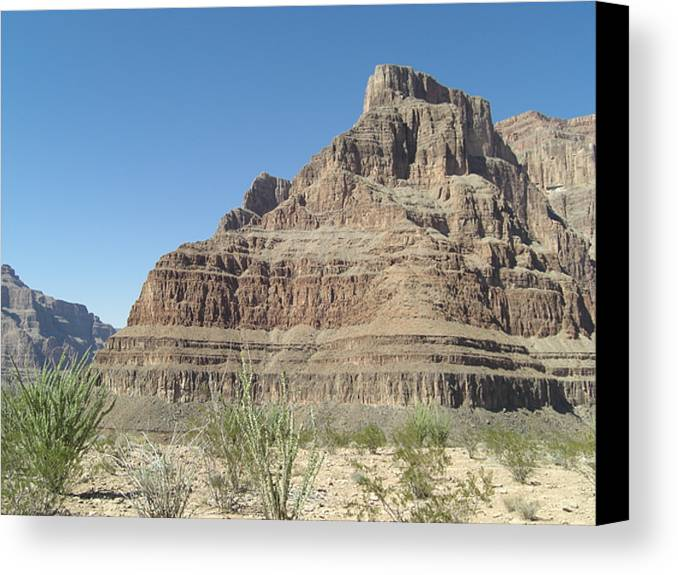 Canyon Base At The Grand Canyon Canvas Print featuring the photograph Canyon Base At The Grand Canyon by Paul Jessop