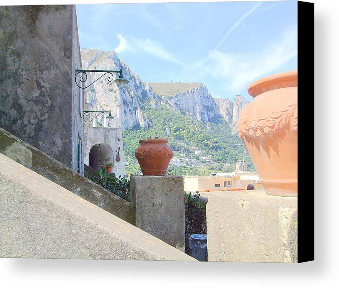 Capri Canvas Print featuring the photograph Capri by Mindy Newman