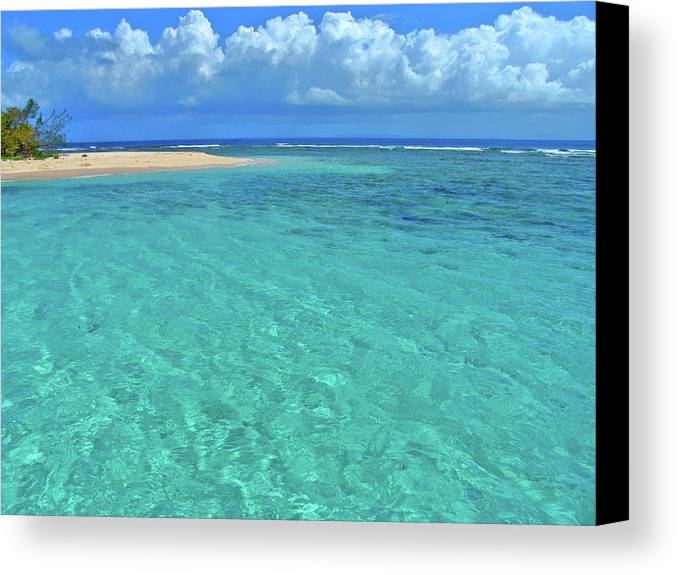 Water Canvas Print featuring the photograph Caribbean Water by Scott Mahon