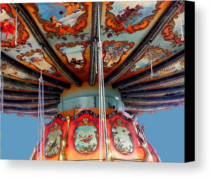 Carnival Canvas Print featuring the photograph Carnival Mushroom by Anne Cameron Cutri