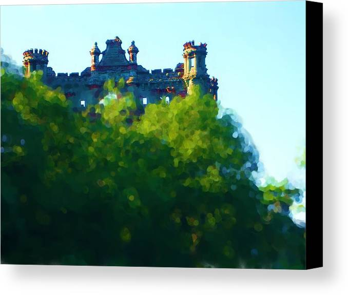 Canvas Print featuring the painting Castle In The Sky   Going Home by Jonathan Galente