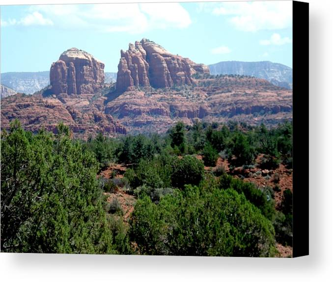 Sedona Canvas Print featuring the photograph Cathedral by William Francis