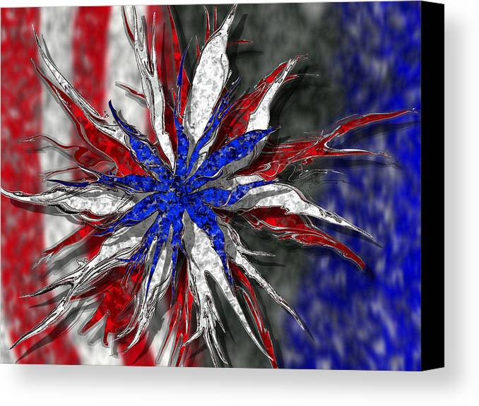 Abstract Art Canvas Print featuring the digital art Chaotic Star Project - Take 3 by Scott Hovind