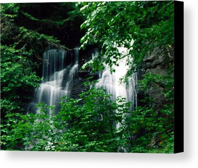 Landscape Canvas Print featuring the photograph Chattahoochee Waterfall by Vicky Brago-Mitchell
