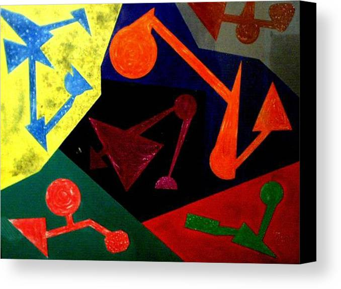 Abstract Canvas Print featuring the painting Chemistry by Guillermo Mason