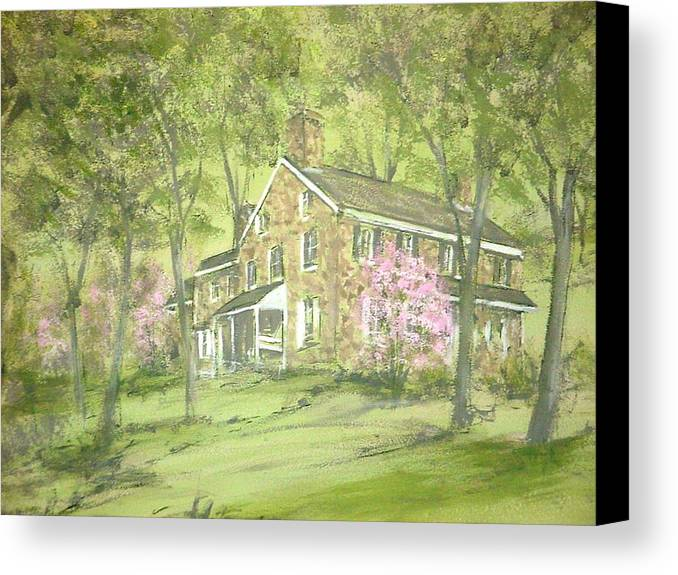 Landscape Canvas Print featuring the painting Chester Springs by David Bruce Michener