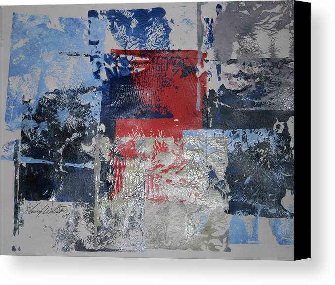 Abstract Canvas Print featuring the painting Chicago West Side In Early Days by Edward Wolverton