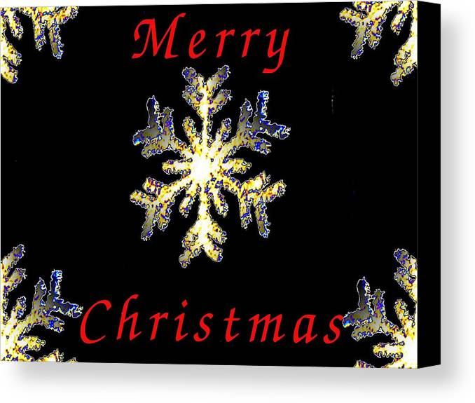 Snow Canvas Print featuring the photograph Christmas Snowflakes by Tim Allen