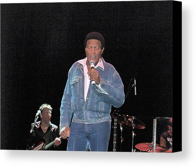 Chubby Checker Singer Bands Music Blues Dance Star Concert Canvas Print featuring the photograph Chubby Checker by Andrea Lawrence
