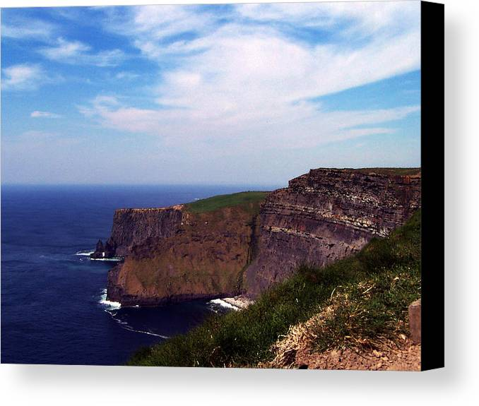 Irish Canvas Print featuring the photograph Cliffs Of Moher Aill Na Searrach Ireland by Teresa Mucha