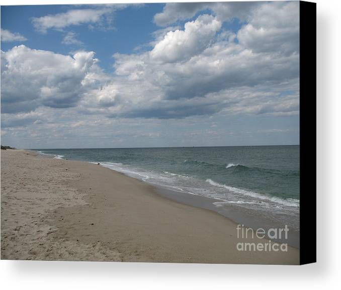Clouds Canvas Print featuring the photograph Clouds Over The Sea by Christiane Schulze Art And Photography