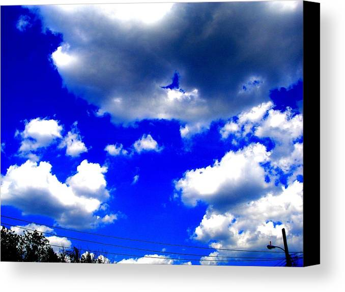 Photograp Prints Canvas Print featuring the photograph Clouds Study 1 by Teo Santa