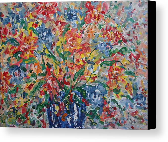 Painting Canvas Print featuring the painting Color Expressions. by Leonard Holland