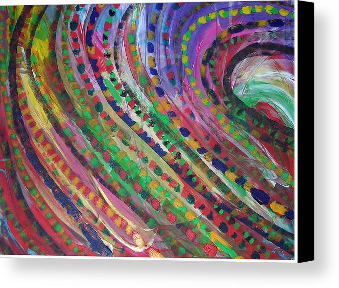 Abstract Canvas Print featuring the painting Color Storm by Russell Simmons