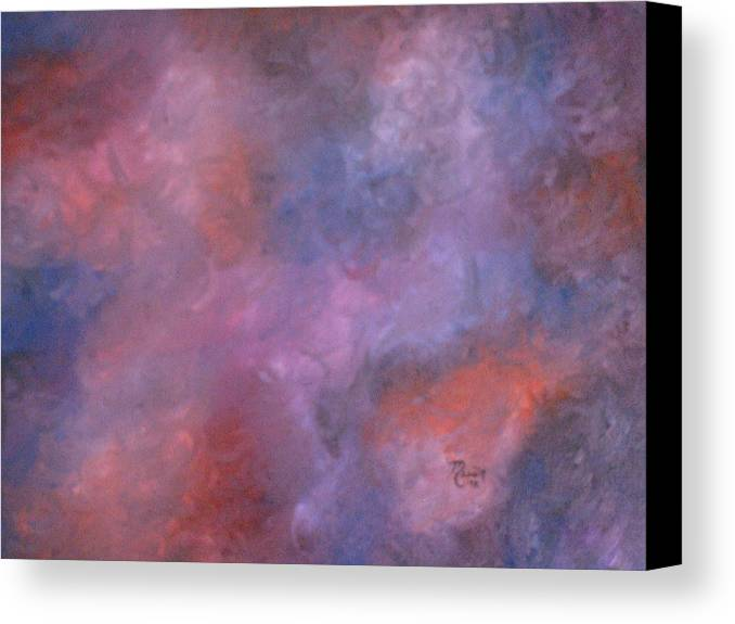Abstract Art Canvas Print featuring the painting Colors by Guillermo Mason
