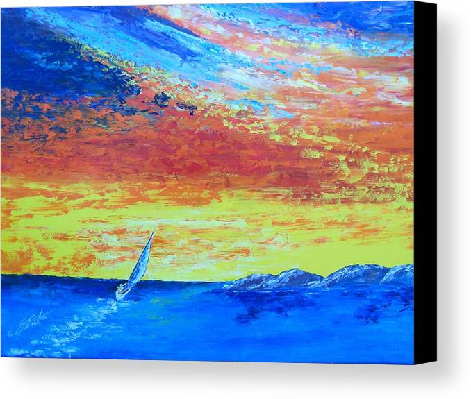 Landscape Canvas Print featuring the painting Colors Of Florida by Dennis Vebert