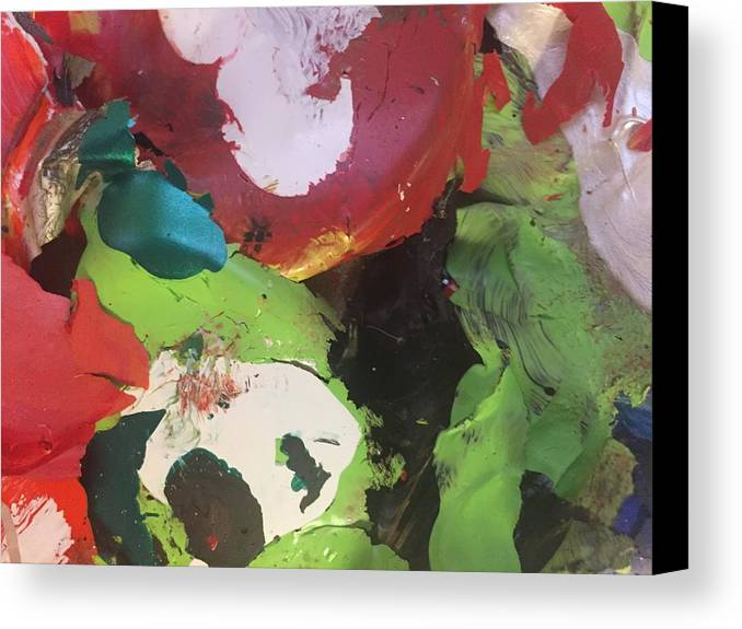 Abstract Canvas Print featuring the photograph Colourful Wasteland by Paula Brown