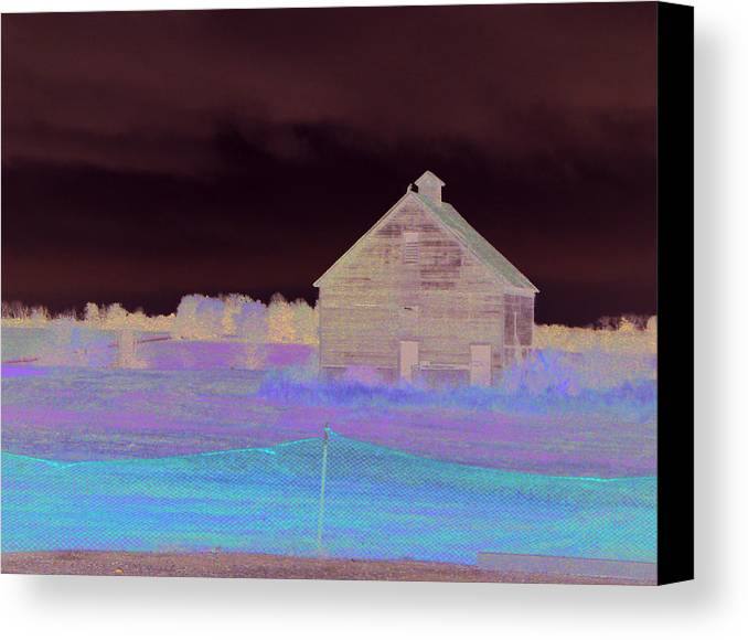 Iowa Canvas Print featuring the photograph Coming Into Iowa On A Rainy Morning by Kevin Callahan