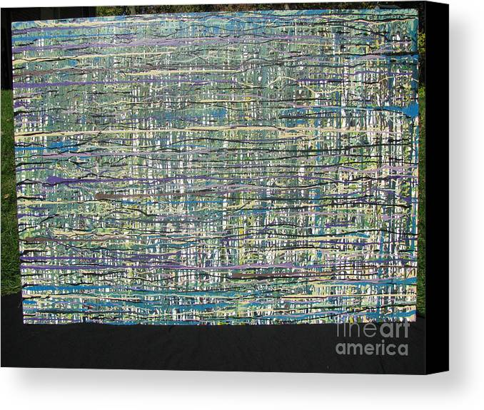 Canvas Print featuring the painting Convoluted by Jacqueline Athmann