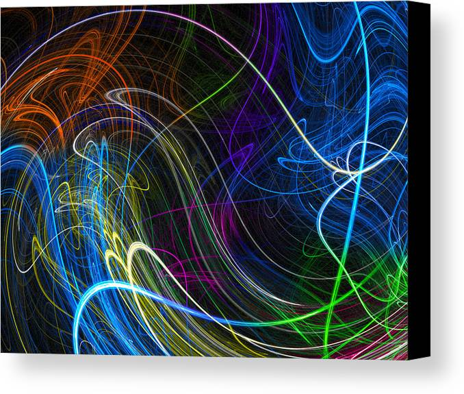 Neon Canvas Print featuring the photograph Cosmic Haywires by Mark Blauhoefer