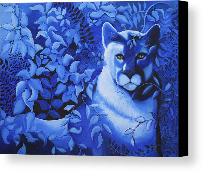 Cougar Canvas Print featuring the painting Cougar by Bonnie Kelso