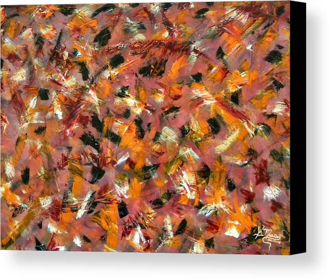 Abstract Canvas Print featuring the painting Courage by Guillermo Mason