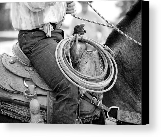Cowboy Canvas Print featuring the photograph Cowboy by Lauren Munger