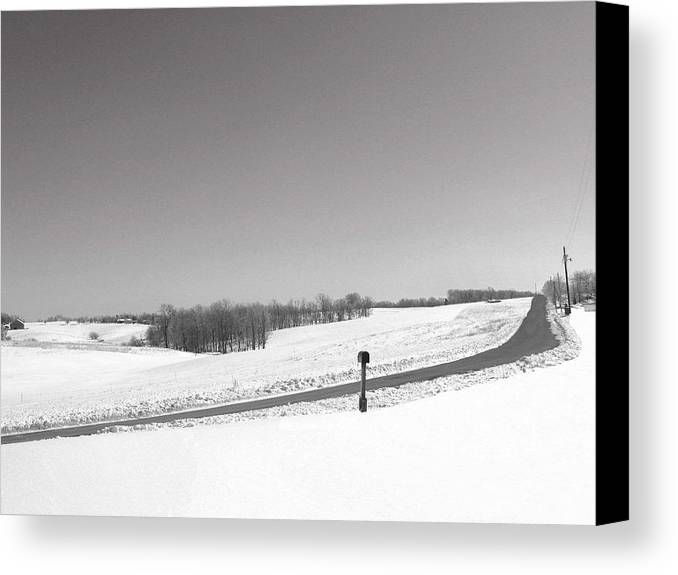 Country Canvas Print featuring the photograph Craig Hill Rd by Martie DAndrea